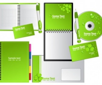 Vector Green Notebook Vector Art