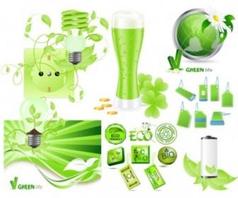 Vector Green Series Vector Art