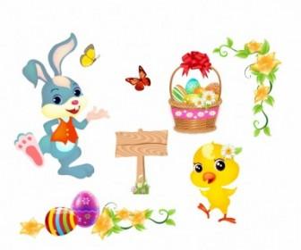 Vector Easter Bunny Vector Art