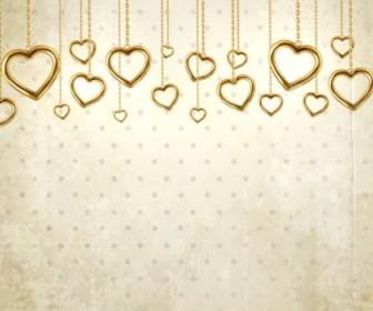 Vector Valentine39s Day Card 04 Background Vector Art