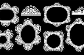 Vector European Classical Frame Pattern Vector Art