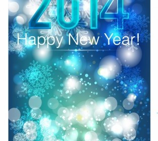 Vector 2014 Beautiful New Year Celebration Background Vector Art