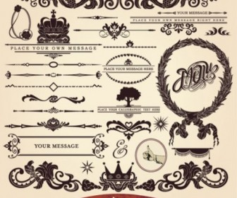 Vector European Lace 01 Pattern Vector Art