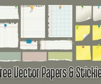 Vector Papers And Stickies Vector Art