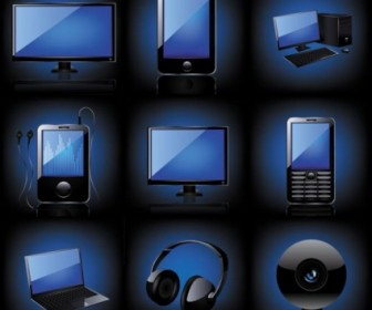 Vector Blue Technology Products 03 Icon Vector Graphics