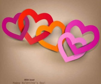 Vector Happy Valentine's Day To Heart Background Vector Art