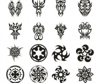 Vector Tattoo Set 3 Vector Art