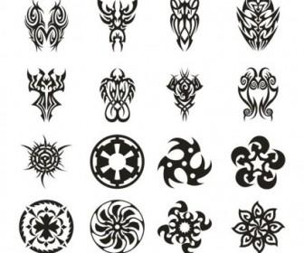 Vector Tattoo Set 3 Vector Art
