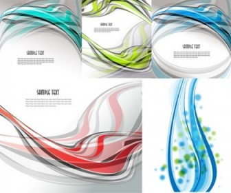 Vector 5 Beautiful Dynamic Lines Of The Background Vector Art