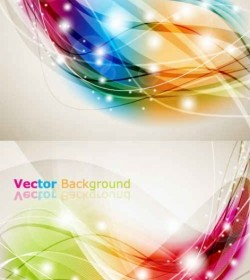 Vector Brilliant Dynamic Effects Background Vector Art
