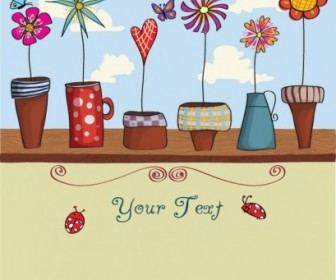 Vector Lovely Flowers Flower Vector Art