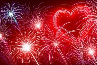 Vector Colorful Fireworks Vector Art