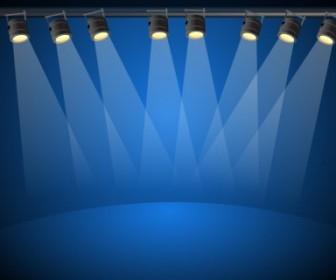 Vector Blue Lights Vector Art