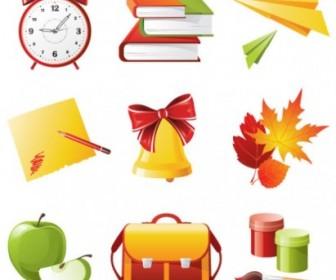 Vector Exquisite School Supplies 04 Vector Art