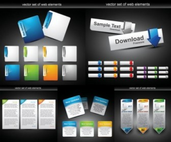 Vector Web Design Module Button Vector Art