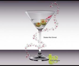 Vector Martini Glass Vector Art