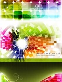 Vector Dynamic Effects Light Color Vector Art