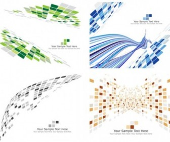 Vector Dynamic Science And Technology Pattern Box 01 Background Vector Art