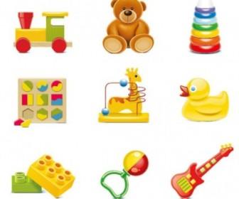 Vector Beautiful Toys For Children 01 Vector Art