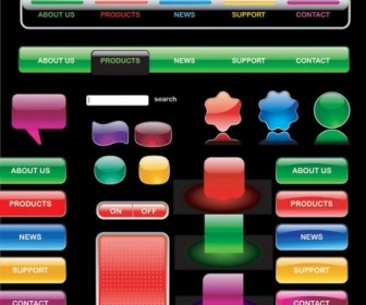 Vector Crystalstyle Buttons 1 Web Design Vector Graphics