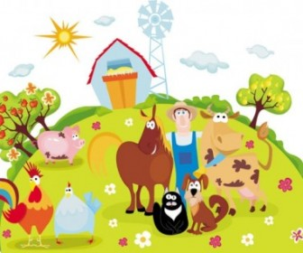 Vector Farm 04 Cartoon Vector Art