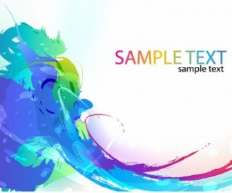 Vector Colorful Paint Ink Splashes Background Abstract Vector Graphics