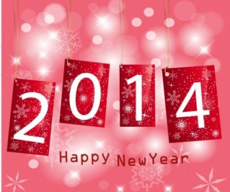 Vector Happy New Year 2014 Christmas Vector Graphics