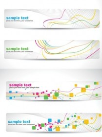 Vector Dynamic Line Background Vector Banner