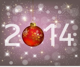 Vector Happy New Year 2014 And Merry Christmas Vector Graphics