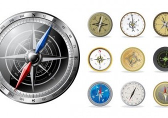 Vector All Kinds Of Compass Vector Art