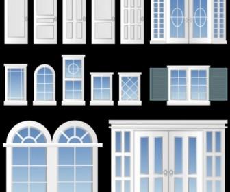 Vector Europeanstyle Windows And Doors Vector Art