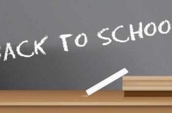 Vector Back To School Blackboard Sign Vector Art