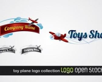 Vector Toy Plane Logo Collection Vector Art