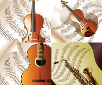 Vector Read Music And Musical Instruments Vector Art