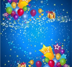 Vector Party Star And Balloon Background Vector Art