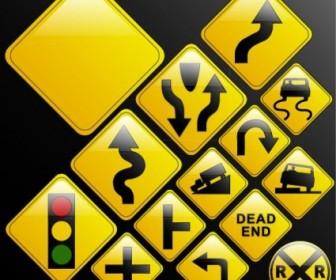 Vector Traffic Signs Vector Art