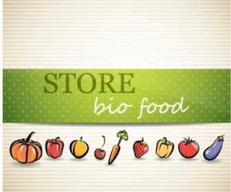 Vector Vegetable Menu 02 Background Vector Art