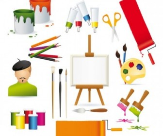 Vector Drawing Supplies Vector Art