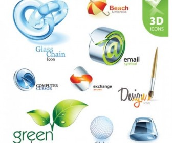 Vector Exquisite Collection Of Threedimensional 2 Icon Vector Graphics