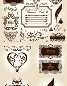 Vector European Classical Pattern Vector Art