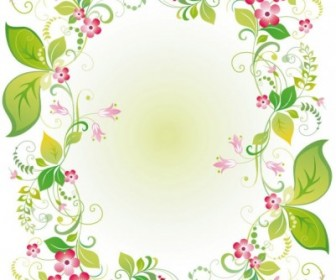 Vector Beautiful Flowers And Lace 03 Flower Vector Art