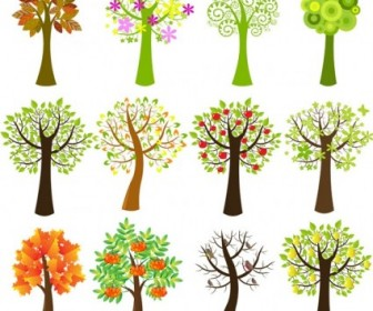 Vector Lovely Trees Tree Plant Vector Graphics