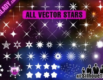 Vector Stars Silhouettes Vector Graphics