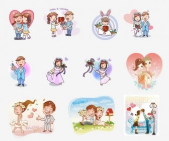 Vector Couple Figure 01 Cartoon Vector Art