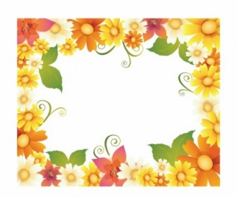Vector Frame Flower Vector Art
