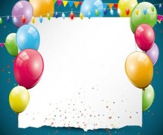Vector Balloon Card 03 Vector Art