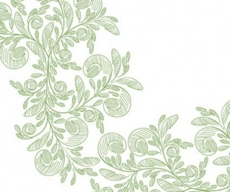 Vector Floral With Green Pencil Graphic Abstract Vector Graphics
