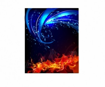 Vector Fire And Water Background Abstract Vector Graphics