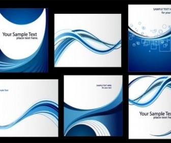 Vector Dynamic Lines Of The Blue Card Template Vector Art