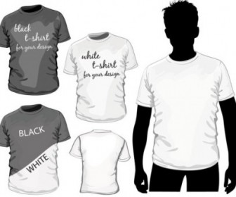 Vector Fine Tshirt Template 01 Vector Art